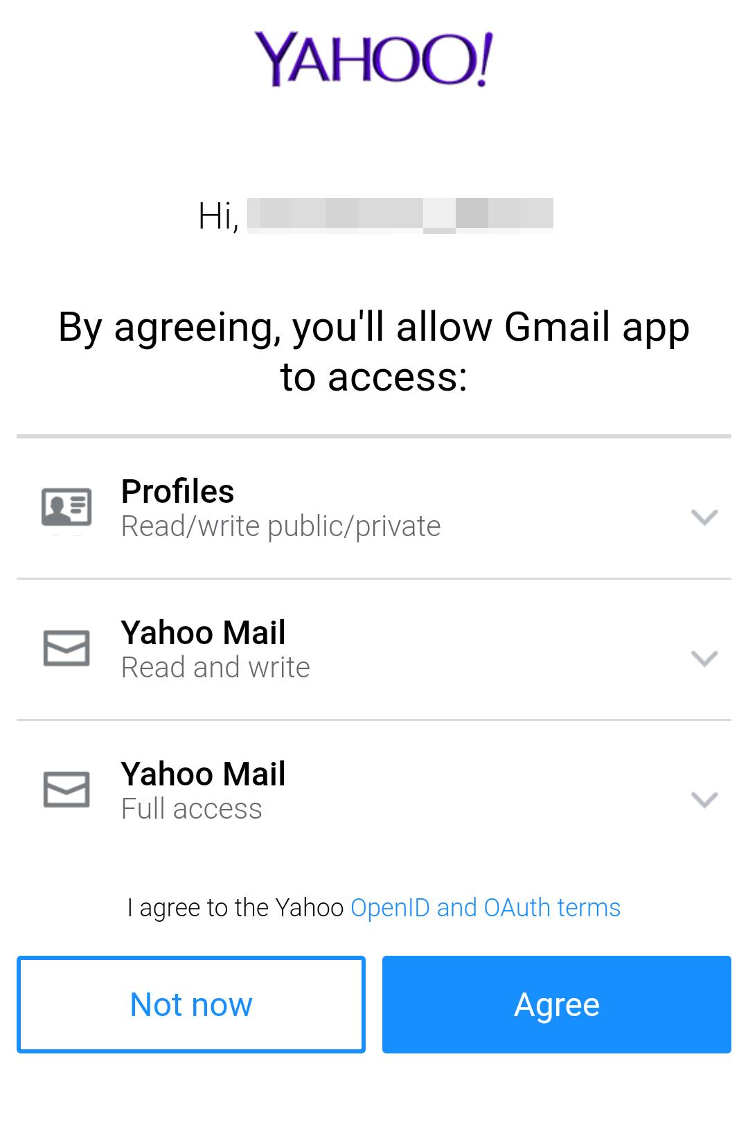 Gmailアプリの使用を認証