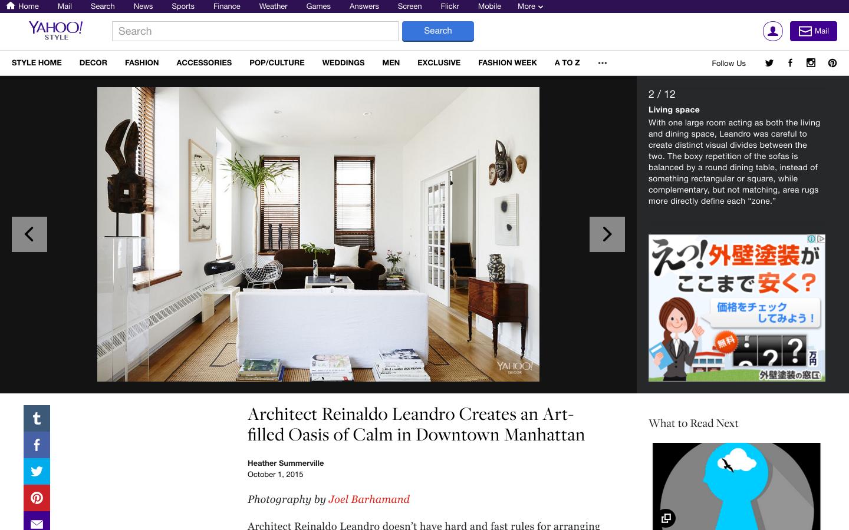 Yahoo! STYLE DECOR マンハッタンにある部屋のインテリア