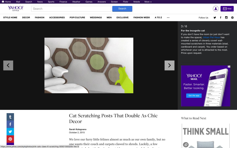 Yahoo! STYLE DECOR 壁に貼る猫用爪とぎ