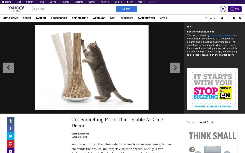 Yahoo! STYLE DECOR インテリアに溶け込む木製の猫のおもちゃ
