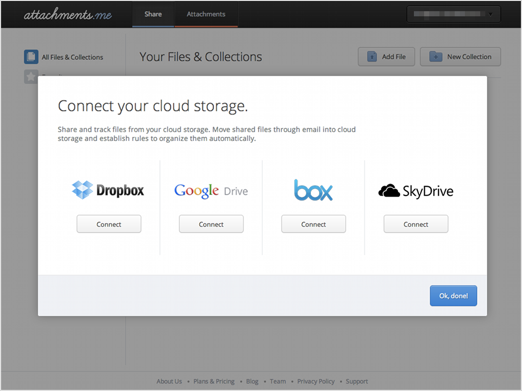 Dropbox、Googleドライブ、Box、Sky Driveに対応