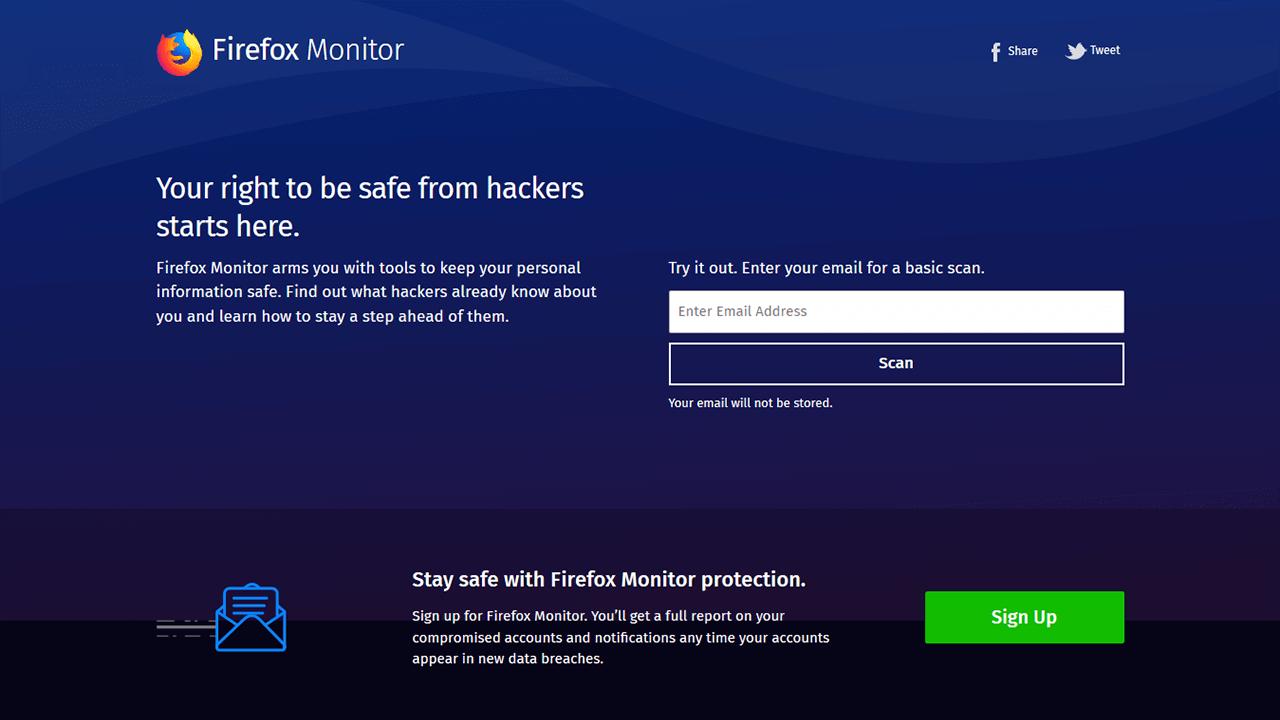 Firefox Monitorで自分のアカウント情報が流出していないか調べてみた