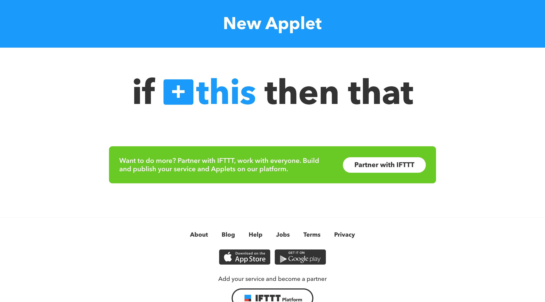 New Applet