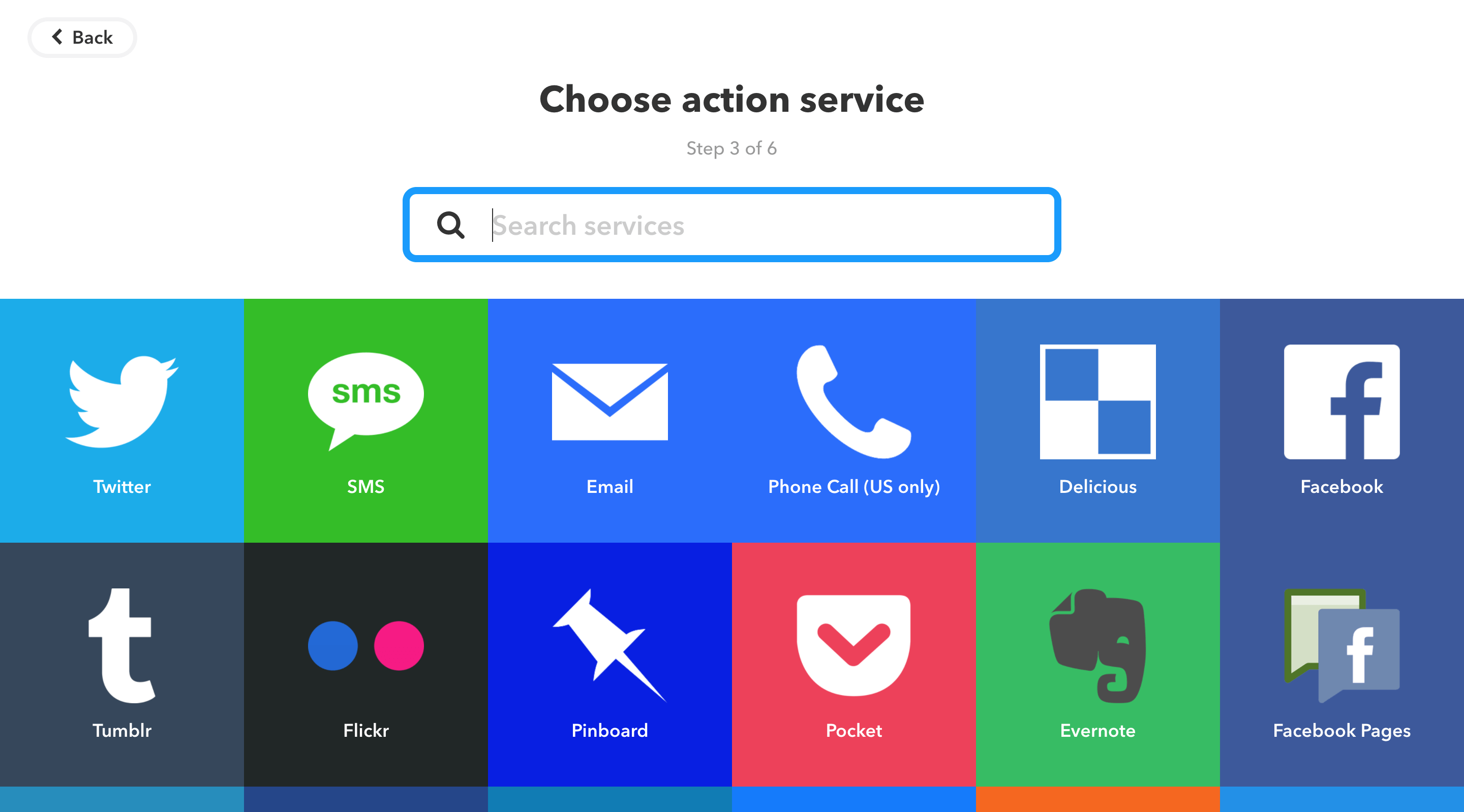 Choose action service